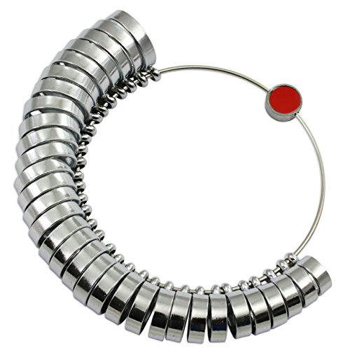 Breitband-Finger-Ringmaß, britische Größen A-Z + 6