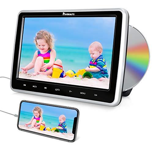 NAVISKAUTO Lecteur DVD Voiture pour Enfant Supporte Entrée HDMI AV in AV Out Région Libre USB SD 10,1 Pouce Ecran d'appui tête Slot in Design