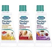 Dr. Beckmann Fleckenteufel Set, Fleckenentferner für Fetthaltiges & Saucen, Blut & Eiweißhaltiges, Obst & Getränke   3 x 50 ml