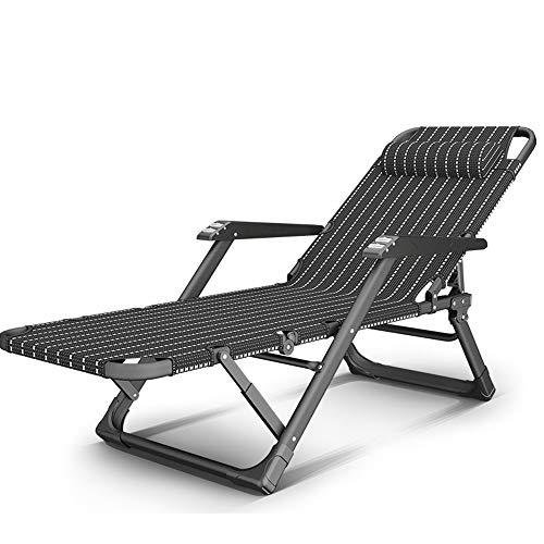 ZR- Folding Liegestuhl Tragbarer Test Einstellbar Büro Siesta Stuhl Balkon Rückenlehnenstuhl Mit Massagearmlehne Sommer- Strandgarten Liegestühle (Color : B)