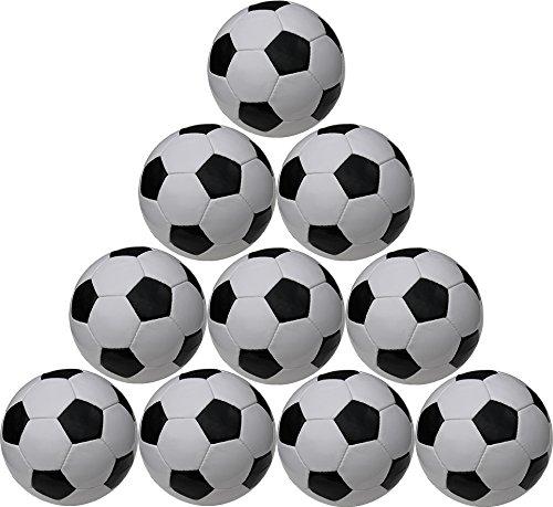 Boje Sport Ballpaket 10er Set - Fußball klassisch - Farbe: schwarz/weiß, Größe 5 - ohne Werbeaufdruck