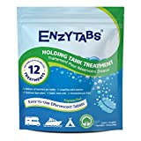 Enzytabs Holding Tank Treatment for RV, Marine, Camping, Billions of Enzyme Producing Bacteria Reduce Bad Odors and Liquefy Solids, 12 Treatments (12 Tablets)