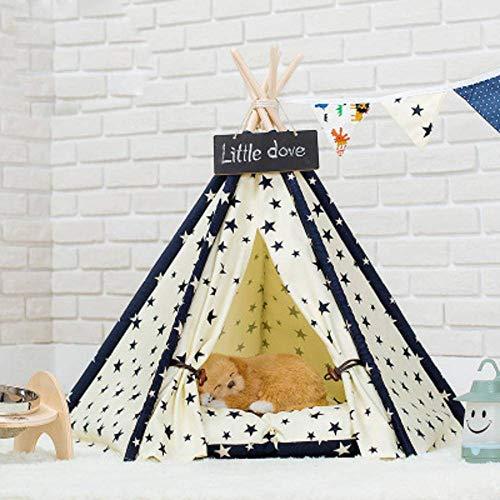 N\C Tienda de campaña para perros lindos fuera de la tienda de campaña Fo Pets Star Pattern Tent