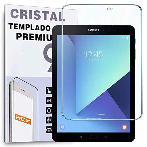 """REY Protector de Pantalla para Samsung Galaxy Tab S3 9.7"""" WiFi, Cristal Vidrio Templado Premium"""