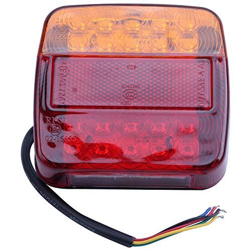 TOOGOO(R) 2 x 12v LED Feux Arriere Arret Indicateur Bateau Voiture Remorque Camion Etanche Signal