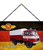NWFS Freiwilliges Feuerwehr Lo Robur DDR Blechschild Metallschild Schild Metal Tin Sign gewölbt lackiert 20 x 30 mit Kordel