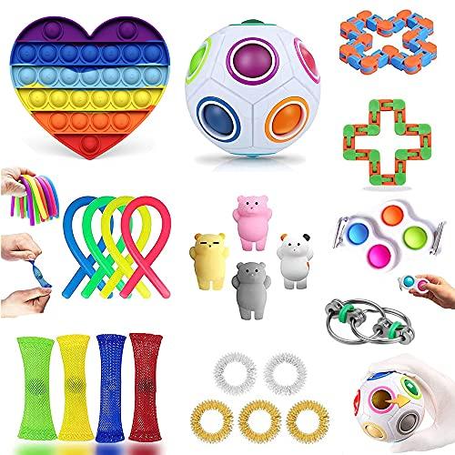 LIGEDG Fidget Toys Set, Figetttoys, for Kind Antistress Spielzeug, Das Fidget Toys Pack 24-Teilige Set Bietet Kindern Abwechslungsreiche Unterhaltungsmöglichkeiten