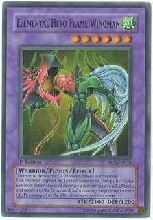 Yu-Gi-Oh! - Elemental Hero Flame Wingman (DP1-EN010) - Duelist Pack 1 Jaden Yuki - Unlimited Edition - Super Rare