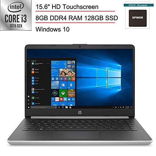 (Renewed) HP 15.6' Touchscreen Laptop Computer/ 10th Gen Intel Core i3 1005G1 Up to 3.4GHz (Beat i5-7200u)/ 8GB DDR4 RAM/ 128GB SSD/ HDMI/ Windows 10, SPMOR Mouse Pad