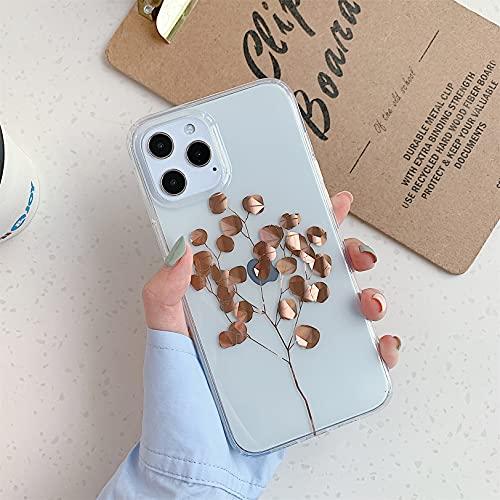 Emlivi Funda para iPhone 8 Plus, iPhone 7 Plus, funda transparente de gel de silicona TPU suave, ultrafina, antiarañazos, diseño de árbol
