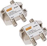 BAMF 2-Way Coax Cable Splitter Bi-Directional MoCA 5-2300MHz (2 Pack)