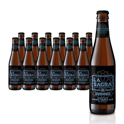 La Sagra - Cerveza Ale Triple Malta, 24 x 330 ml
