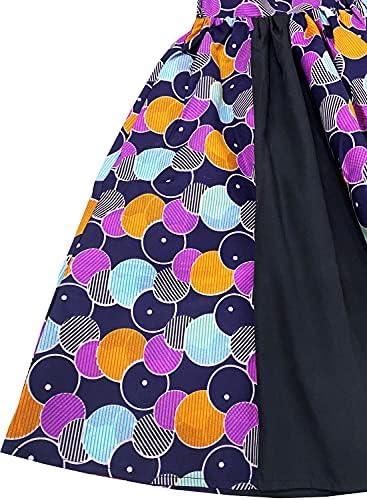 African print high waist skirt _image1