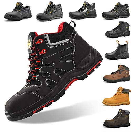 SAFETOE Composute Toe Work Boots for Men Women Waterproof Safety Boots Lightweight Industrial & Construction Work Shoes