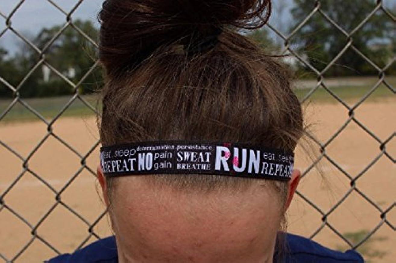 Nonslip Running Headbands, Choice of Sizes, Run Eat Sleep Repeat, Headbands for Running Women