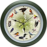 Mark Feldstein Limited Edition 20th Anniversary Singing Bird Wall Clock, 13 Inch
