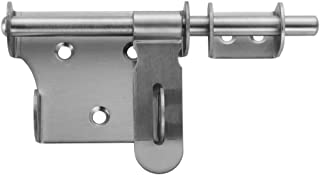 JQK Sliding Bolt Gate Latch, 6 Inch Thickening Stainless Steel Barrel Bolt with Padlock Hole, Interior Door Latches Brushed Finish