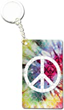 Smokers Metal Tobacco Grinder Portable Key Chain Tool - Peace Sign
