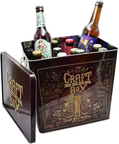 Kalea Beer Box | Metallbox mit 3D-Prägung | Bierspezialitäten | Perfekte Geschenkidee für Männer, Väter und alle Bierliebhaber (Craft Bier Box)