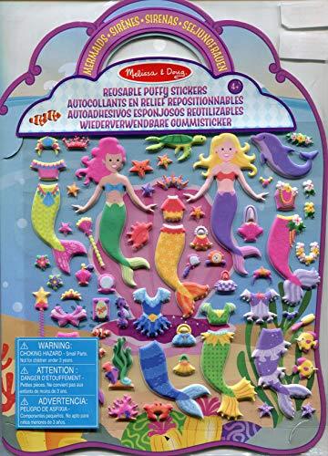 Melissa & Doug Aktivitätenbuch mit wiederverwendbaren Gummistickern - Meerjungfrau (65 Sticker)