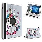 UC-Express Schutzhülle kompatibel für Archos 101 Platinum 3G Tablet Hülle Tasche Hülle Cover 360° Drehbar, Farbe:Motiv 14