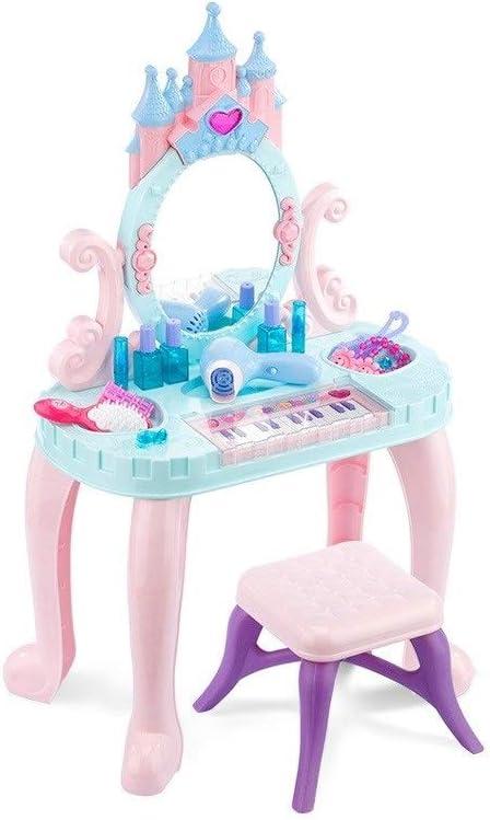 LIUFS-El teclado Juguetes para Niños Niñas Tocador Mesa De ...