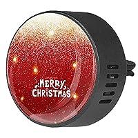 エッセンシャル オイル ベント クリップ用カー ディフューザー、メリークリスマス ,2 パック 40mm アロマセラピー芳香剤