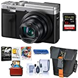Panasonic LUMIX ZS80, 20.3 Megapixel Digital Camera, 4K Video, 30X Zoom Leica Lens DC-ZS80S (Silver), Bundle with Camera Bag + Mac Software Kit + 32GB SD Card + Cleaning Kit + Card Reader