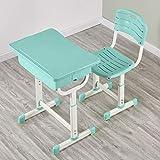 Kids Desk and Chair Sets, Green Adjustable Children School Study Desk and Chair Home & Garden Office &...