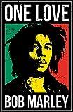 Theissen Bob Marley One Love Poster Multi-Color, Matte Poster Frameless Gift 28cm x 43cm)*IT-00233