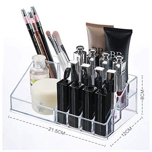 ZTMN Boîte de Rangement cosmétique en Plastique Bureau Rouge à lèvres Bijoux Produits de Soins de la Peau vitrine de Stockage (Couleur: Transparent)