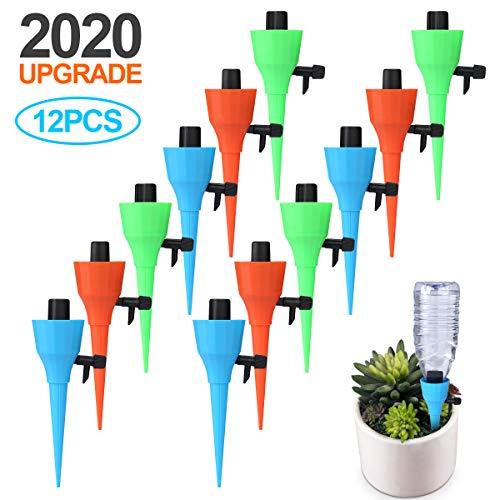Awroutdoor Automatisch Bewässerung Set,Tropfbewässerungfür Topfpflanzen Bewässerungssystem mit Einstellbarer Ventilschalter Garten zur für Zimmerpflanzen im Freien