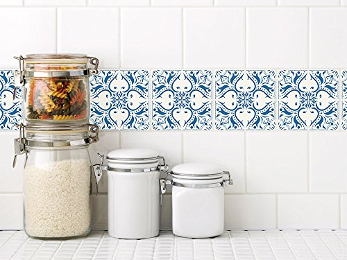 GRAZDesign Fliesenaufkleber marokkanisches Muster - Fliesenfolie Mosaik - Fliesenspiegel Küche Mandala - Fliesen überkleben orientalisch / 10x10cm / 770251_10x10_FL10st