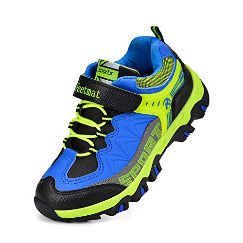 Feetmat Kids Sneakers Lace-up Breathable lightweight Boys Tennis Shoes