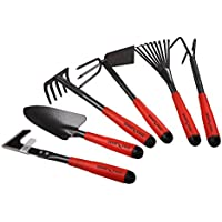 Flora Guard 6-Piece Garden Hand Tool Sets with High Carbon Steel Heads