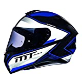 MT Targo Motorradhelm Integralhelm - Schwarz/Perl Weiß/Blau XL (61-62cm)