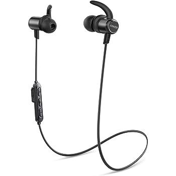 Anker Cuffie Bluetooth 5.0 Soundbuds Slim, Impermeabilità IPX7, 10 Ore di Autonomia, Auricolari Bluetooth Sport, Ricarica Veloce, Accessori in Più Dimensioni, per Sport, Corsa, Palestra, Lavoro, Casa