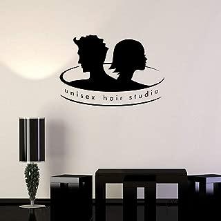 Barbershop Vinyl Applique Unisex Hair Studio Barber Shop Stylist Salon Wall Sticker Removal Wallpaper 56X81Cm
