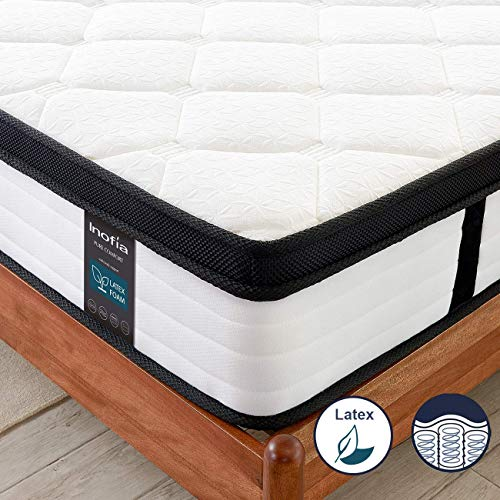 Inofia Small Double Mattresses,4FT Latex Memory Foam Mattress with Pocket Sprung,27cm LATEXCH Bi-density Technology for Maintaining Superior Ventilation,Uplifting Support,OEKO-TEX Certified(120 x 190)