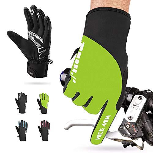 NICEWIN Winter Cycling Gloves Motorcycle Bike - Windproof Waterproof Mountain Road Bicycle Glove Men Women Padded Antiskid Touch Screen Design