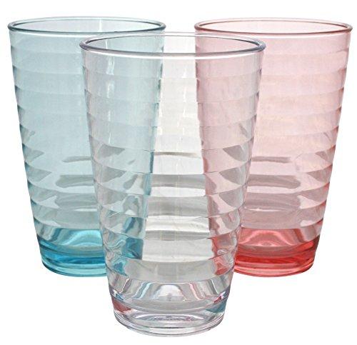 Euro Trail limonade verre Lot de 2–400 ml, Rouge - Rouge