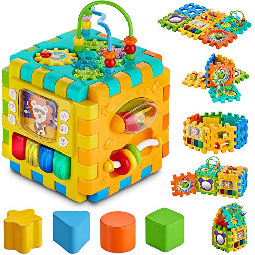 BABYSEATER Baby Activity Cube – 6-in-1...