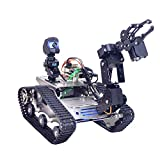 Foxom Programable Robot para Arduino Mega, Smart Robot Car Kit con Arm, WiFi, módulo Bluetooth, FPV, Camara HD - Compatible con Arduino / Raspberry Pi
