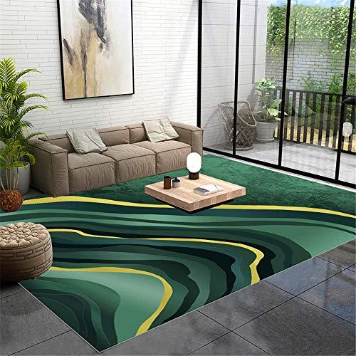 WQ-BBB Dywan sypialnia dywan endotermiczna nowoczesna prostota pokój dziewczęcy dywany higroskopijność dywany abstrakcyjny element zielony żółty dywan łazienkowy 40 x 60 cm