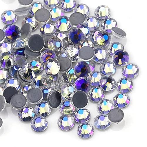 QIAO - Diamantes de imitación de cristal multicolor con purpurina para decoración de uñas y tela