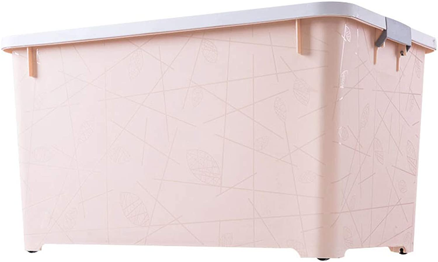 Storage Box Storage Bins Baskets Toy Box Home Containers Cubes Bin Box Gift Baskets Storage Ches-Oversized Thick Plastic Covered Belt Pulley JINRONG (color   Peach Pollen, Size   42  31  28.5cm)