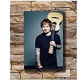 A&D Kunstplakat Ed Sheeran Sänger Songwriter Musikstar
