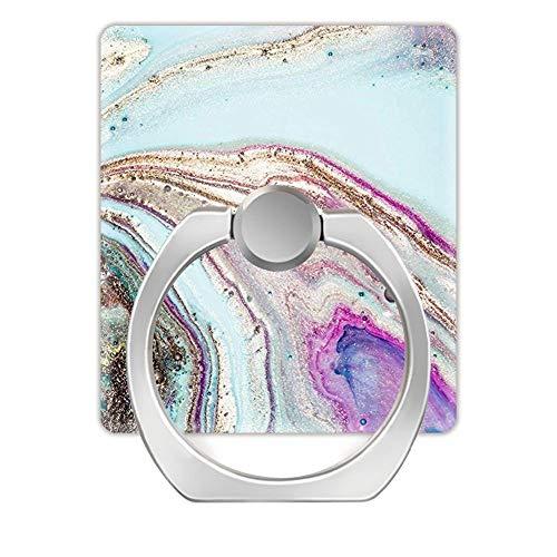 Z861 Soporte de Anillo Giratorio de 360 Grados para teléfonos Inteligentes (Cuadrado), ágata arcoíris Geode Rock