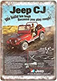 Jeep CJ Wheel Drive Blechschilder Dekoration Retro Vintage