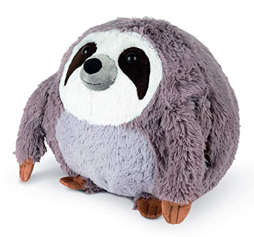 COZY NOXXIEZ Plush Hand Warmer Toys - Safari Animals - Childrens Cute Pillows, Fluffy Soft Plushies, Reusable Animal Cushion Presents for Girls, Boys, Babies (Sloth)